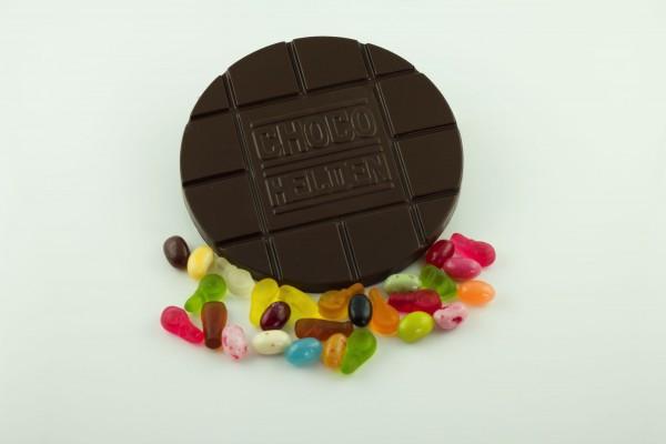 Zartbitter mit Haribo Mix und Jelly Bellys