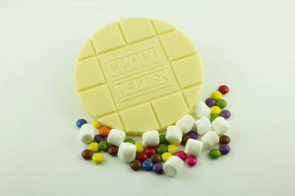 Weiße mit Schokolinsen und Marshmallows