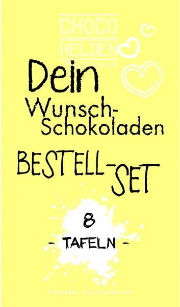 WunschSchokoladen Bestell-Set 8 Tafeln