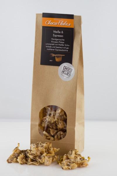 Klassische Cornflakes mit Weisser Schokolade und gemahlenen Espressobohnen.