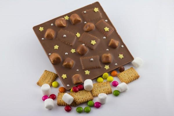 Vollmilchschokolade mit Marshmallows / Butterkekse / Schokolinsen
