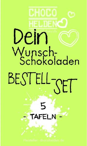 WunschSchokoladen Bestell-Set 5 Tafeln