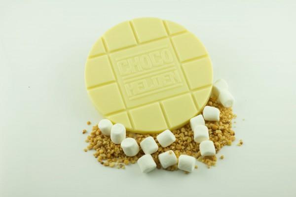 Weiße mit Haselnusskrokant und Marshmallows
