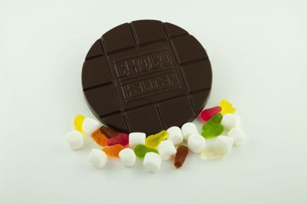 Zartbitter mit Haribo Mix und Mini Marshmallows