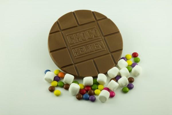Vollmilch mit Schokolinsen und Mini Marshmallows