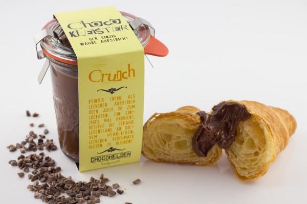 Feinster Schoko-Nougat Brotaufstrich mit gerösteten Kakaobohnensplittern