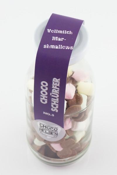 Feinste Trinkschokolade mit Vollmilch und bunten Marshammlows.