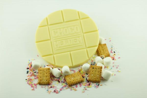 Weiße mit Marshmallows, Zuckerstreusel und Butterkeks