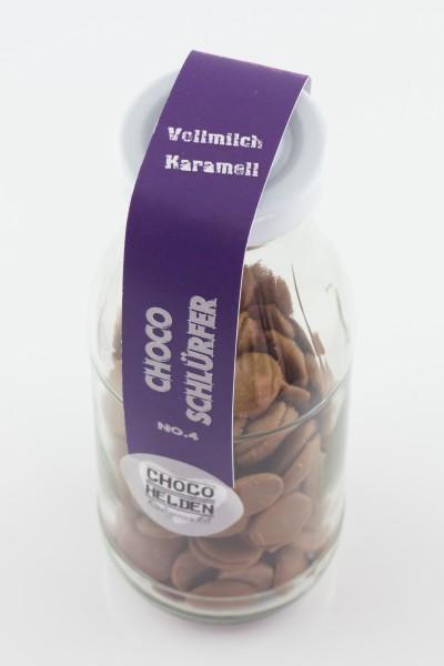 Trinkschokolade Vollmilch mit Karamell