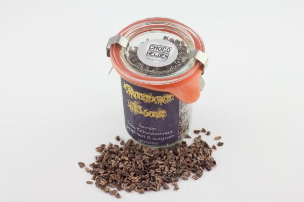 Feinste, geröstete Edelkakaobohnen-Splitter