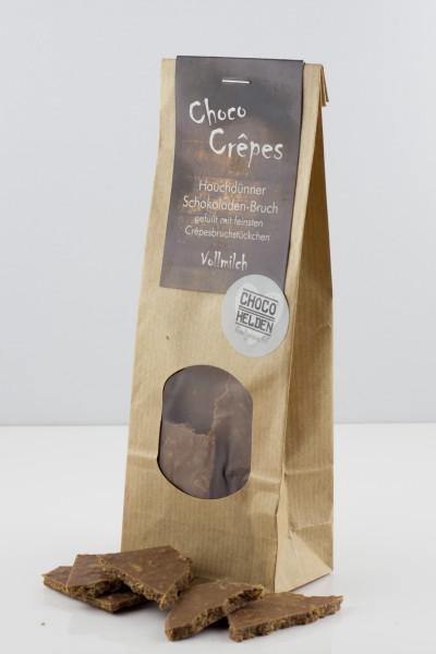 Knusprig, karamellige Crepes-Bruchstückchen in Vollmilchschokolade