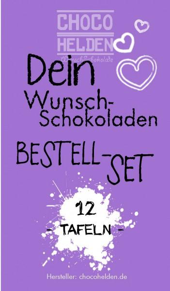WunschSchokoladen Bestell-Set 12 Tafeln