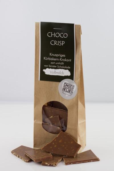 Knuspriges Kürbiskernkrokant in Vollmilchschokolade