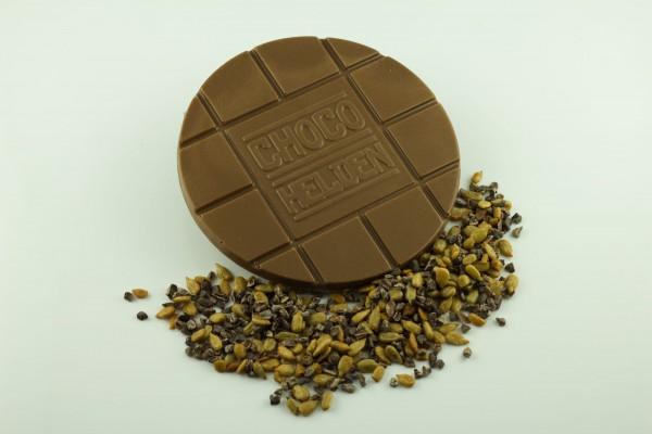 Vollmilch / Kakaobohensplitter / ger. Sonnenblumenkerne