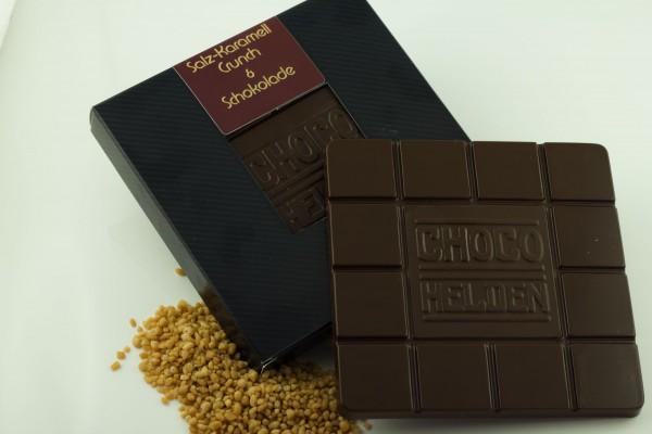 Zartbitterschokolade mit Salzkaramell Crunch