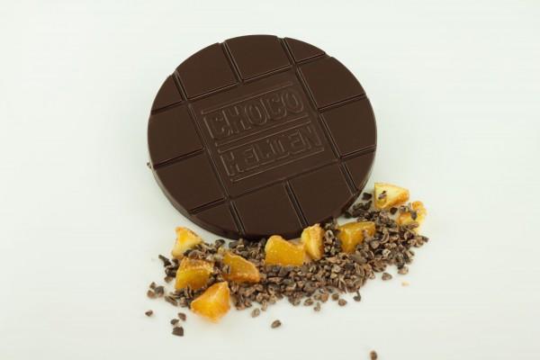 Zartbitter mit Kakaobohnen und Apfelstückchen Z&Z