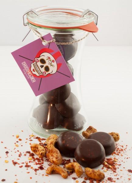 Cashewkerne mit Habanero Chili und Zartbitterschokolade