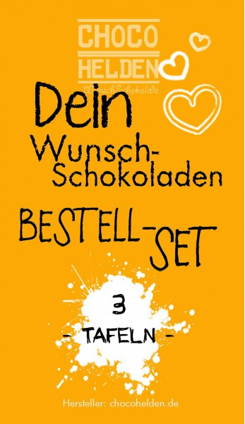 WunschSchokoladen Bestell-Set 3 Tafeln