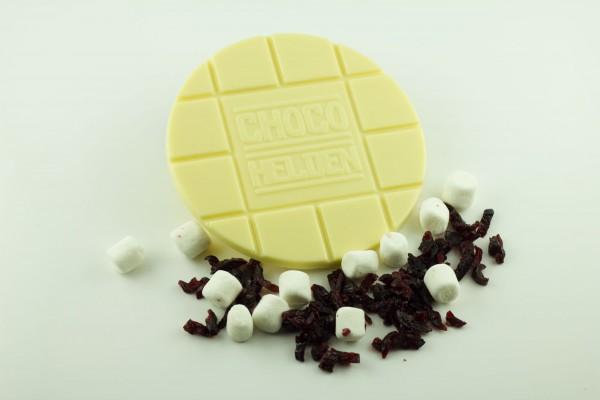 Weiße mit Marshmallows und Cranberries