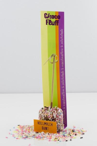 Marshamallow mit Vollmilchschokolade und bunten Zuckerstreuseln