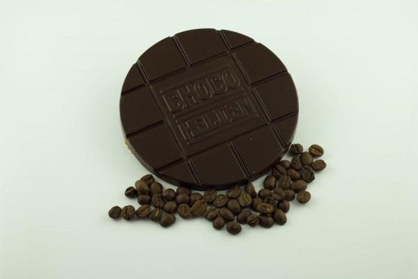 Zartbitter mit Espressobohnen