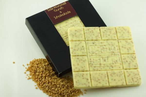 Weiße Schokolade mit Salzkaramell Crunch