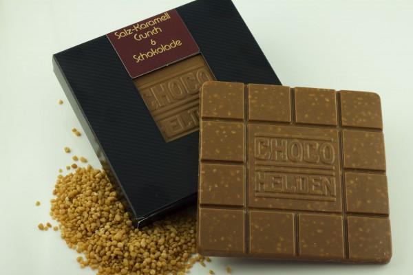 Vollmilchschokolade mit Salzkaramell Crunch